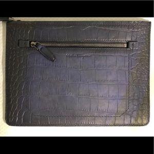 Salvatore Ferragamo Croc Leather Document Holder